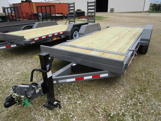 2018 Midsota Manufacturing, Inc. TB-18-tilt bed-7K--Gray High Flat Deck Semi Trailer For Sale