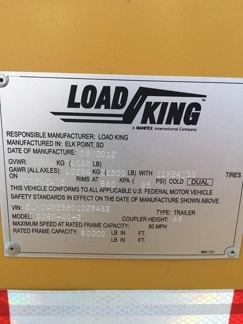 2012 Load King 2060-40-2 Image 5