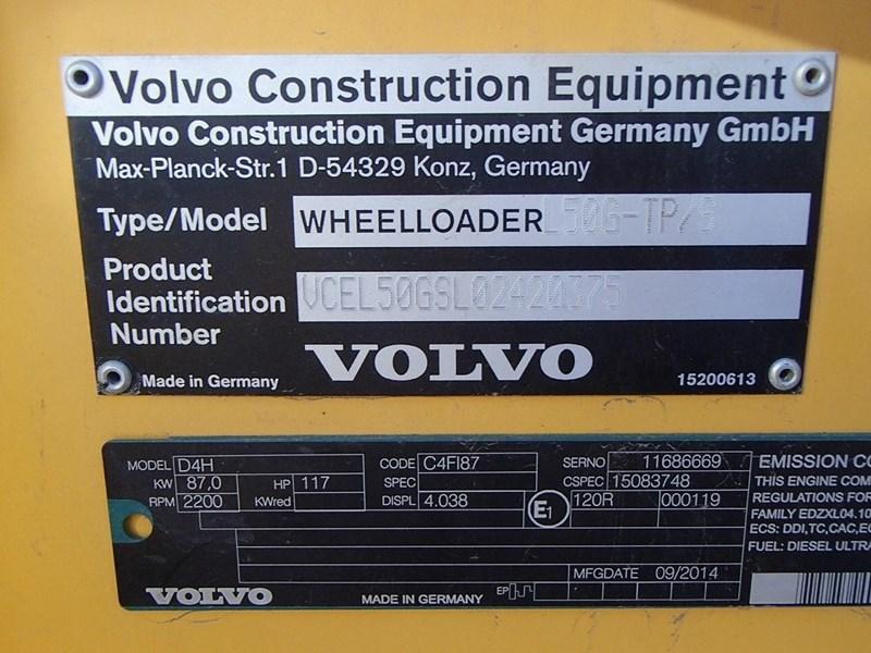 2014 Volvo L50G Image 12