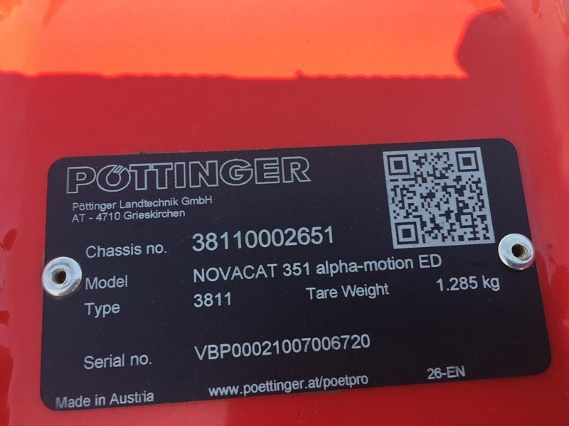 2016 Pottinger NOVACAT 351ED Image 11