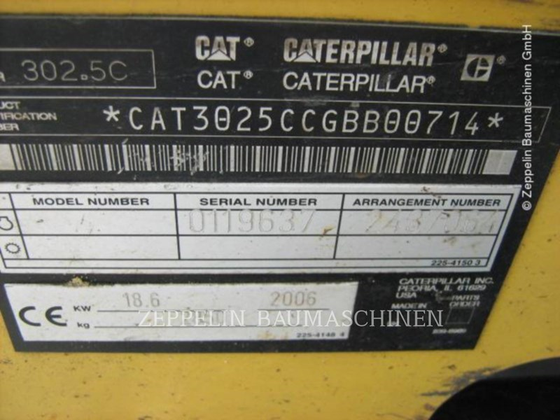 2006 Caterpillar 302.5C Image 6