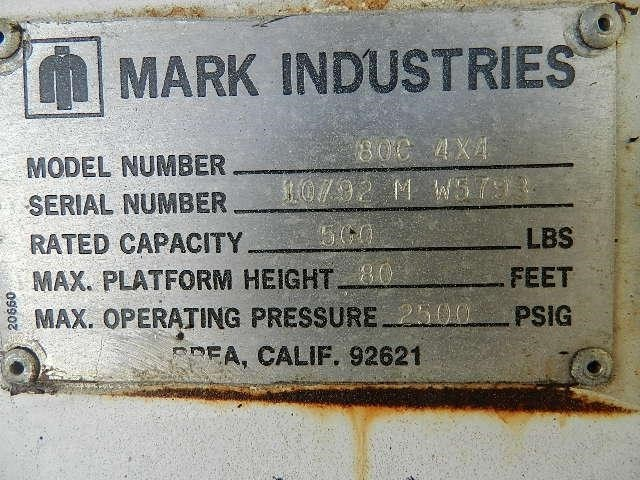 1999 Marklift 80C Image 5