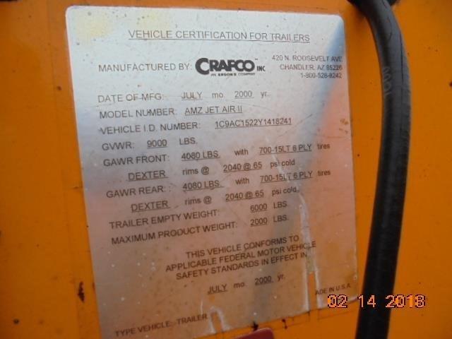 2000 Crafco AMZ JET AIR II Image 5