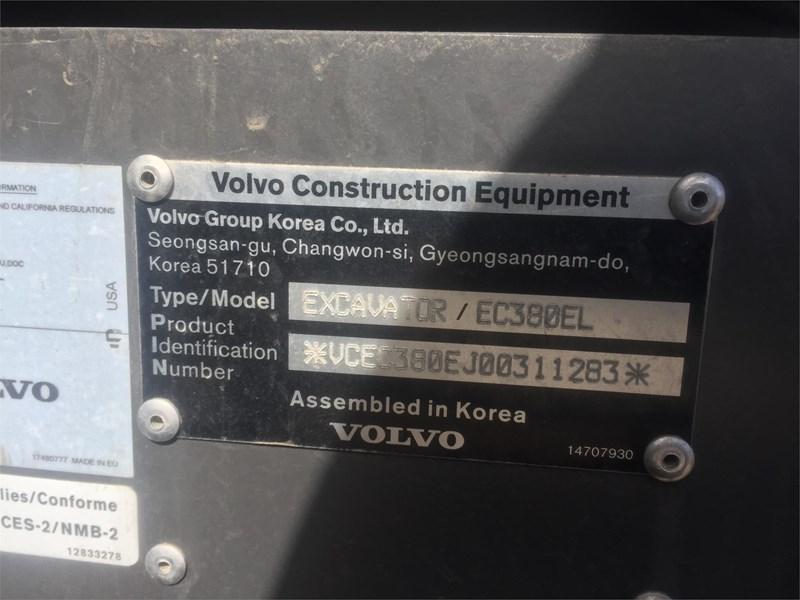 2018 Volvo EC380EL Image 8