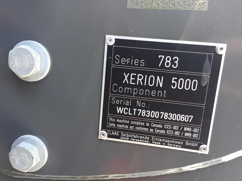 2018 CLAAS XERION 5000 TRAC Image 3