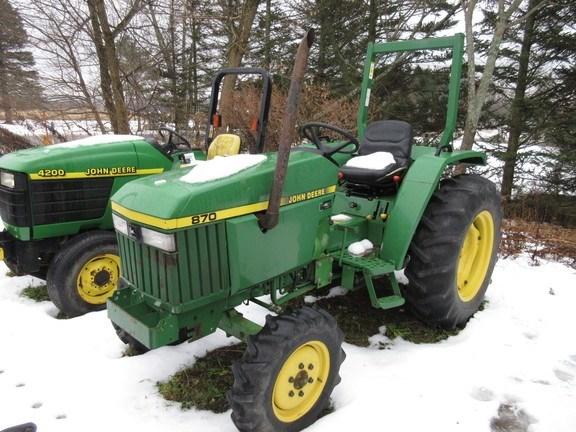 1991 John Deere 870 Tractor For Sale