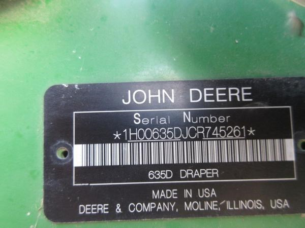 2012 John Deere 635D-35 Image 8