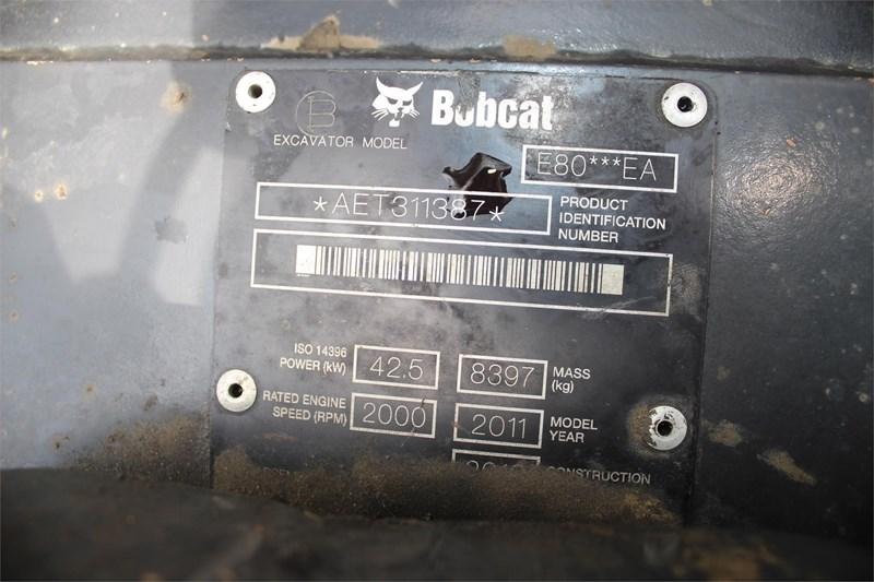 2011 Bobcat E80 Image 6