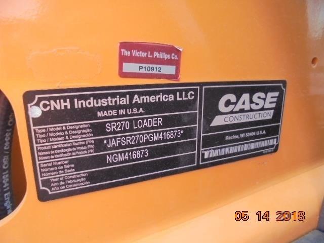 2016 Case SR270 Image 8