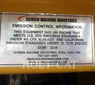 2014 Screen Machine 107T Thumbnail 8