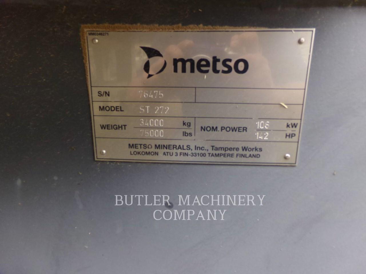2011 Metso ST272 Image 6