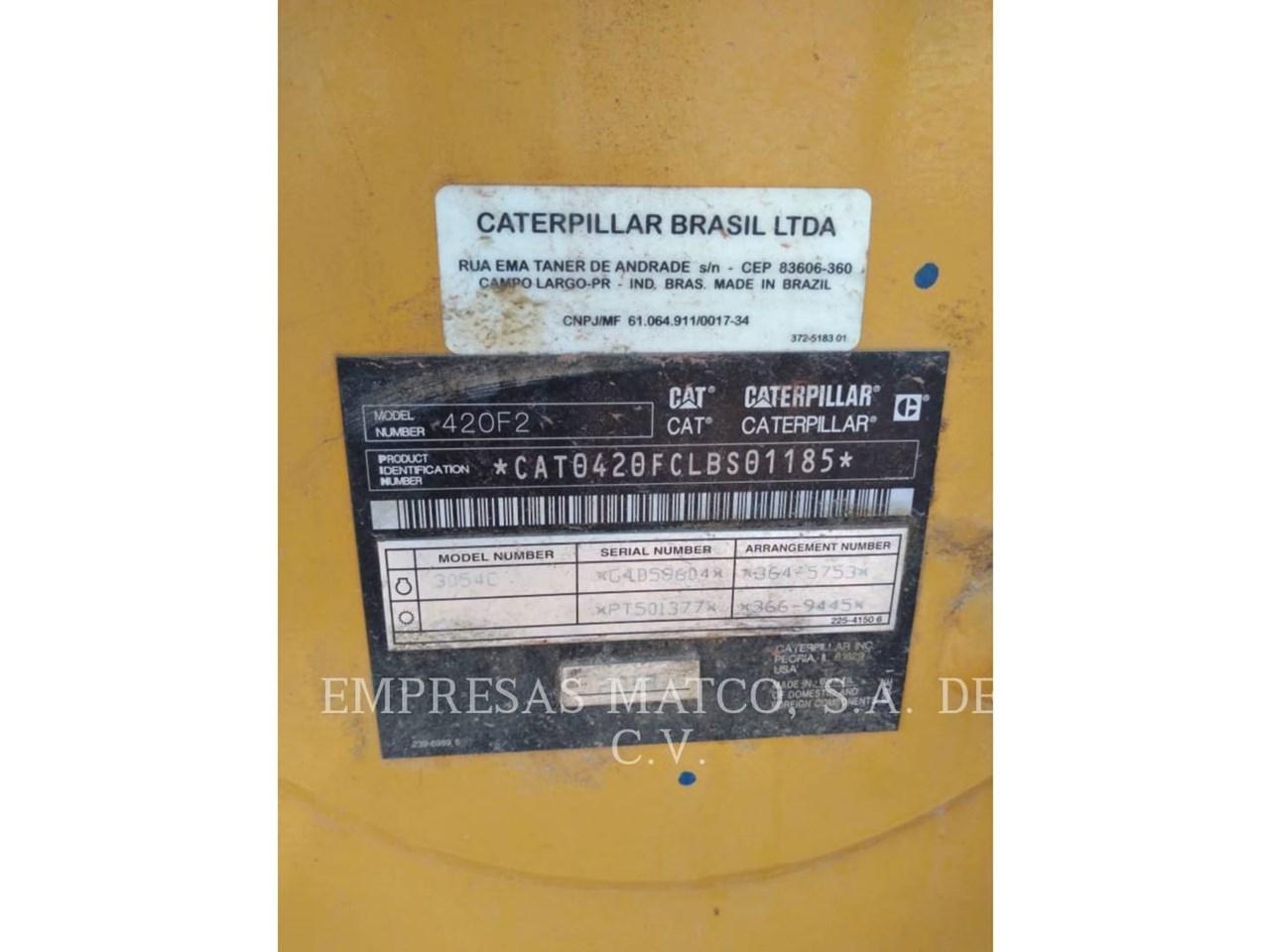 2018 Caterpillar 420F2STLRC Image 8