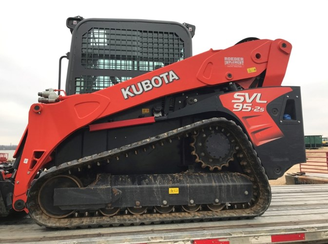 2016 Kubota SVL95-2 Skid Steer-Track For Sale