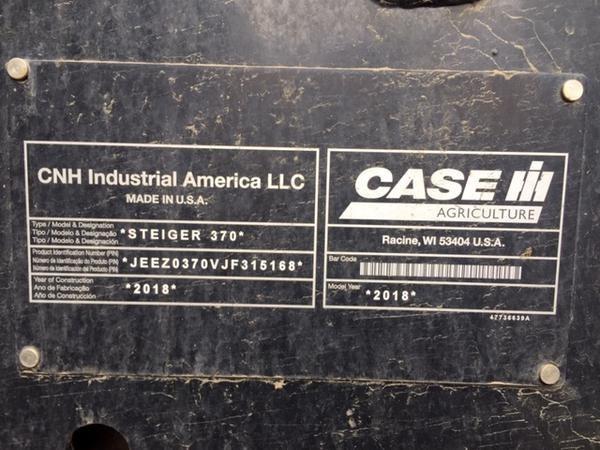 2018 Case IH 370W Image 9