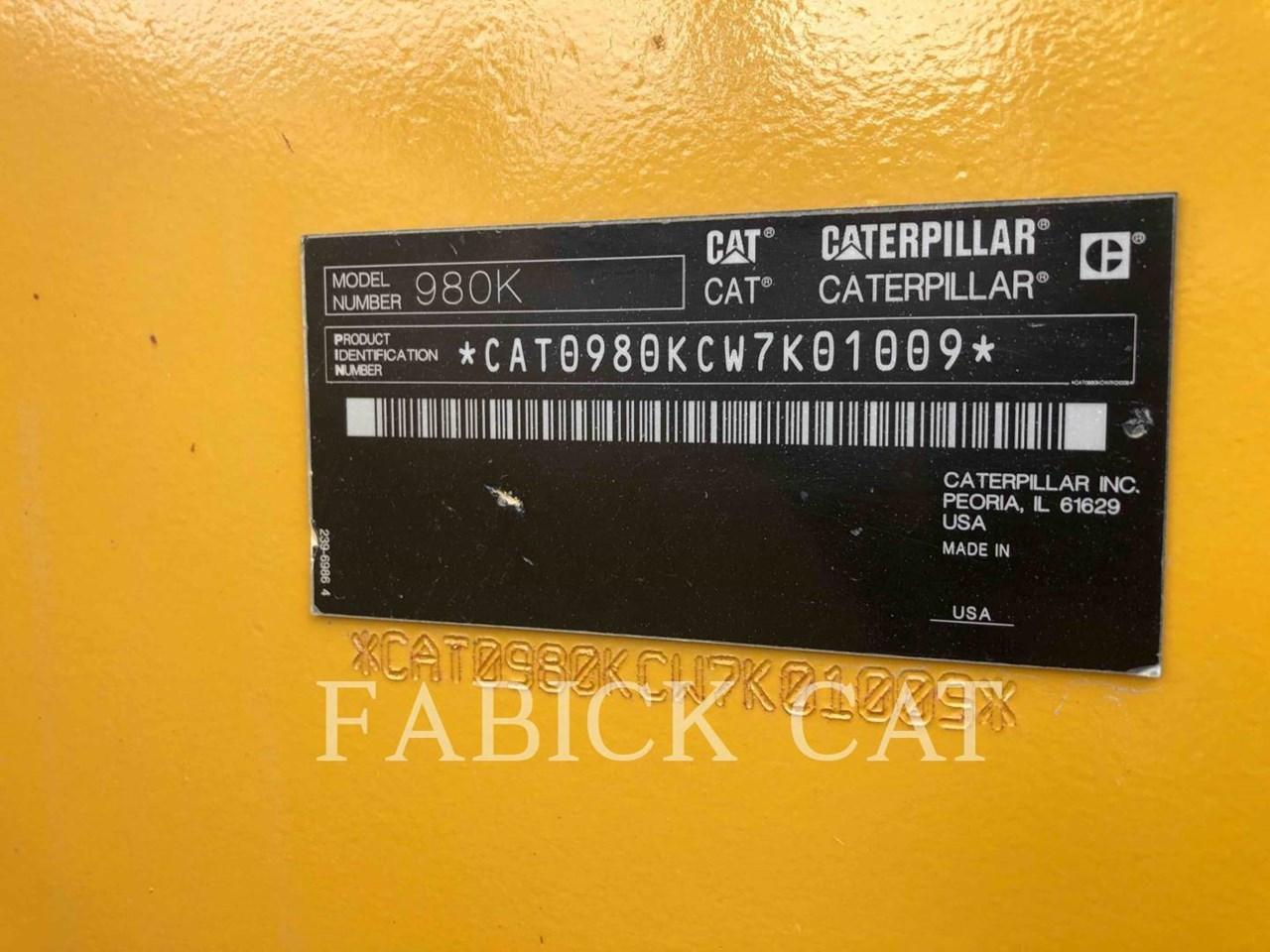 2012 Caterpillar 980K Image 6