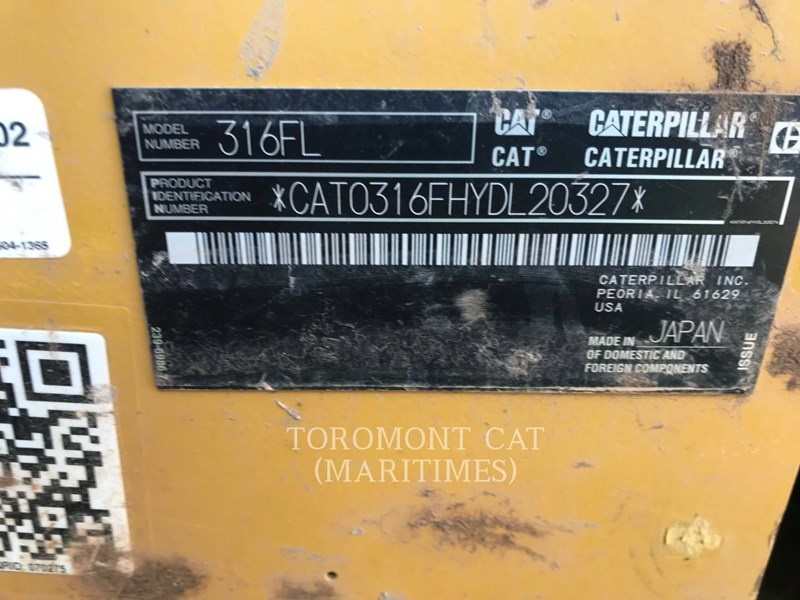 2018 Caterpillar 316FL Image 5