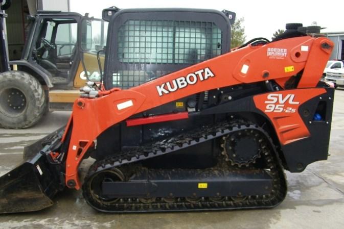2016 Kubota SVL95-2SFHC Skid Steer-Track For Sale
