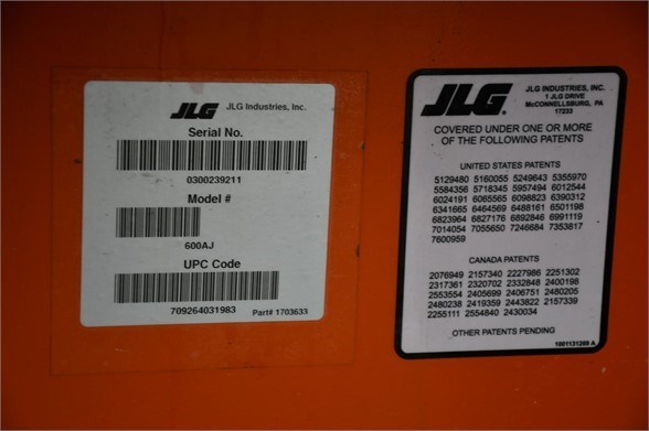 2018 JLG 600AJ Image 21