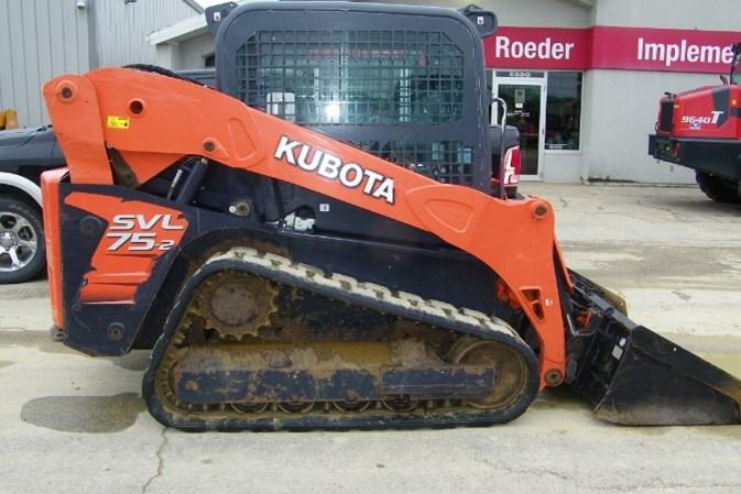 2013 Kubota SVL75-2 Skid Steer-Track For Sale
