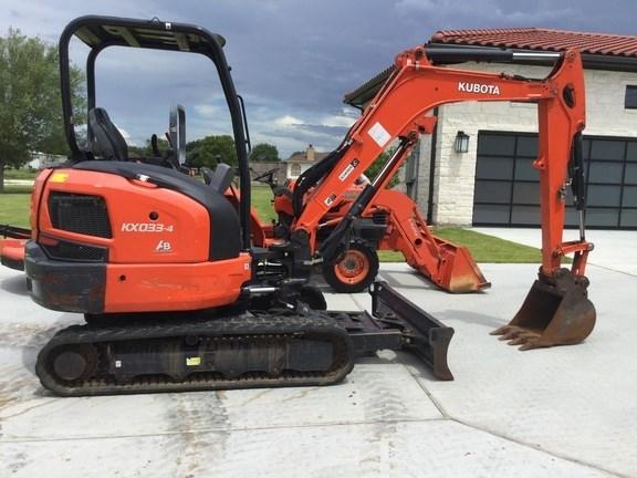 2017 Kubota KX033 Excavator-Mini For Sale