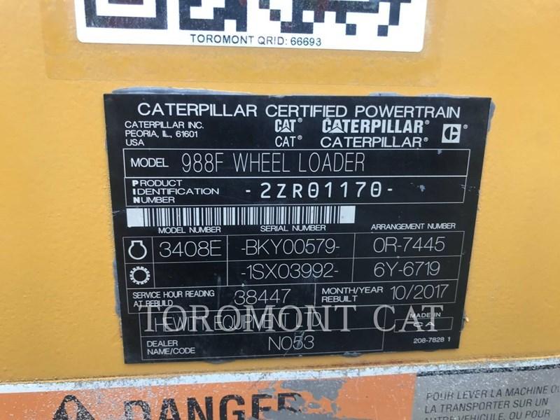 1998 Caterpillar 988FII Image 7