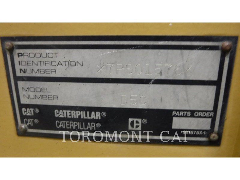 2001 Caterpillar D5C Image 7