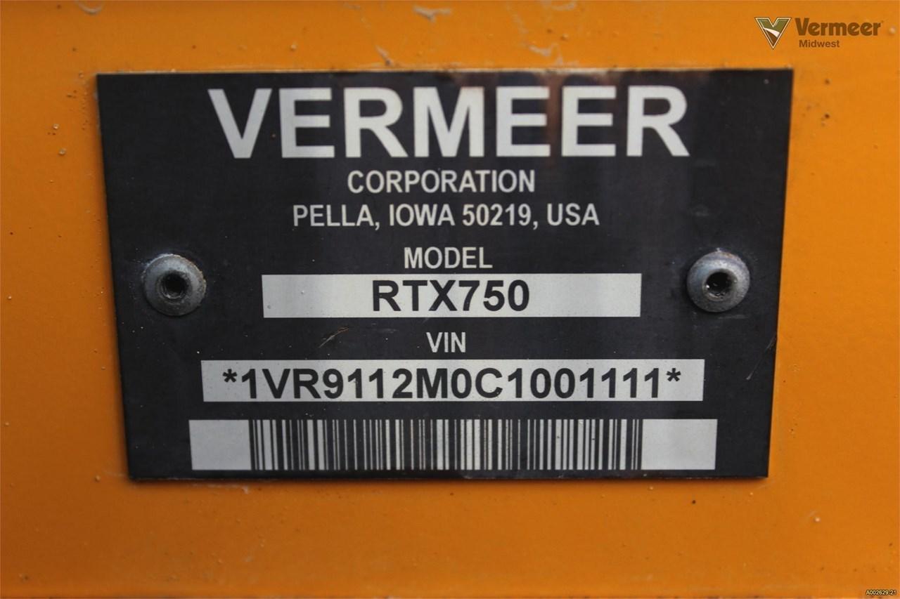 2012 Vermeer RTX750 Image 21