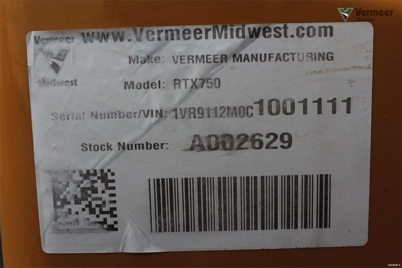 2012 Vermeer RTX750 Image 22