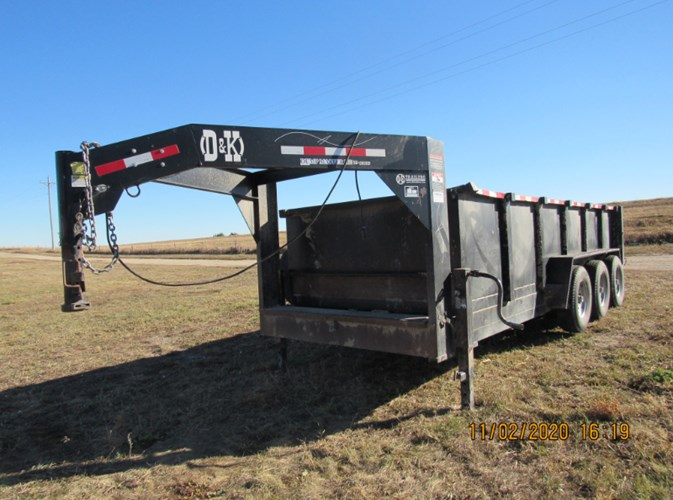 2016 D & K Gooseneck Dump Dump Trailer For Sale
