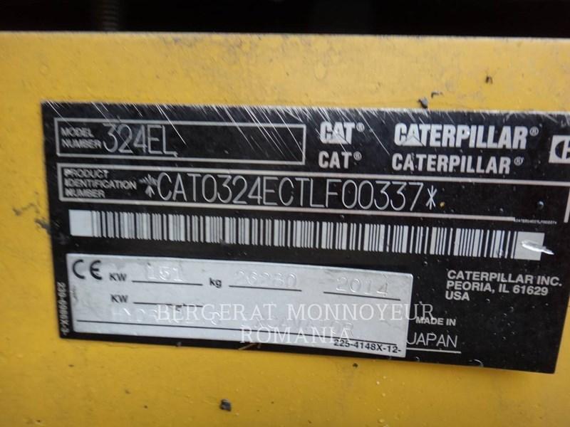 2014 Caterpillar 324EL Image 6