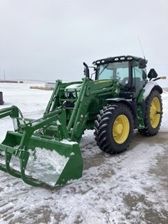 Tractor - Row Crop For Sale 2019 John Deere 6155R , 155 HP