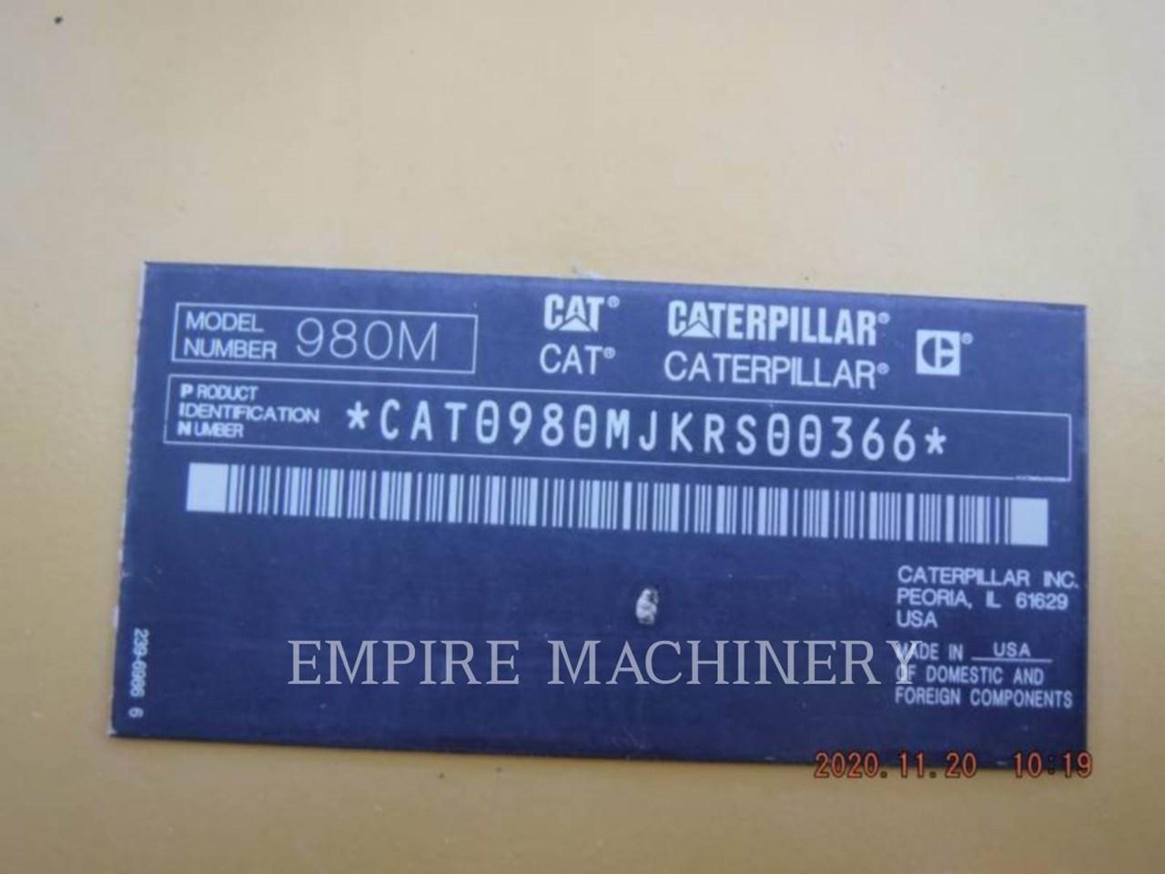 2014 Caterpillar 980M AOC Image 5
