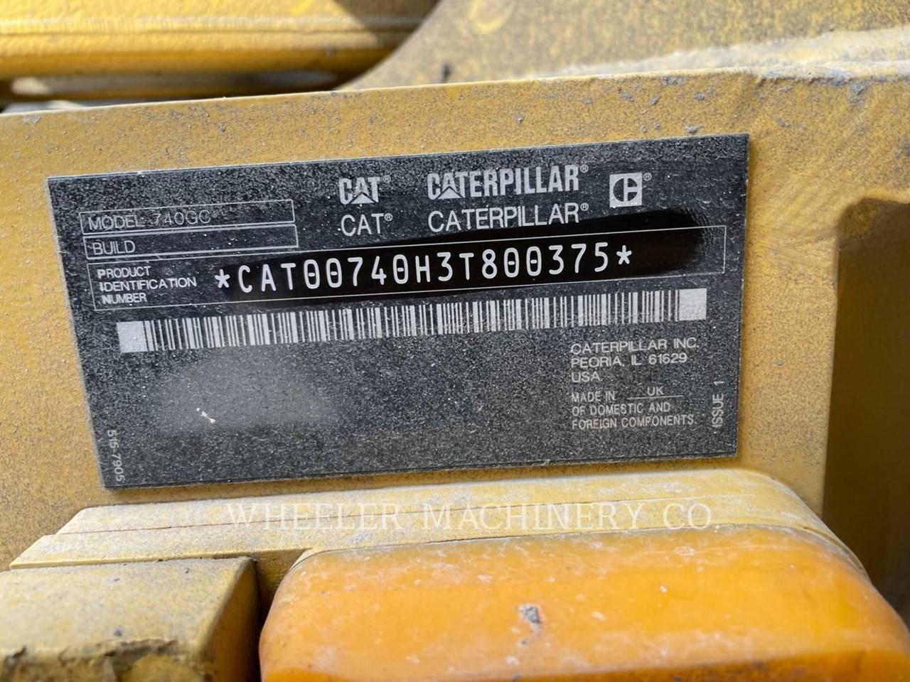 2020 Caterpillar WT 740 GC Image 5