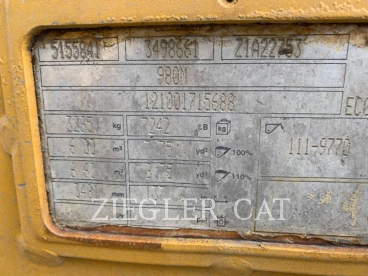 2018 Caterpillar 980M Image 9
