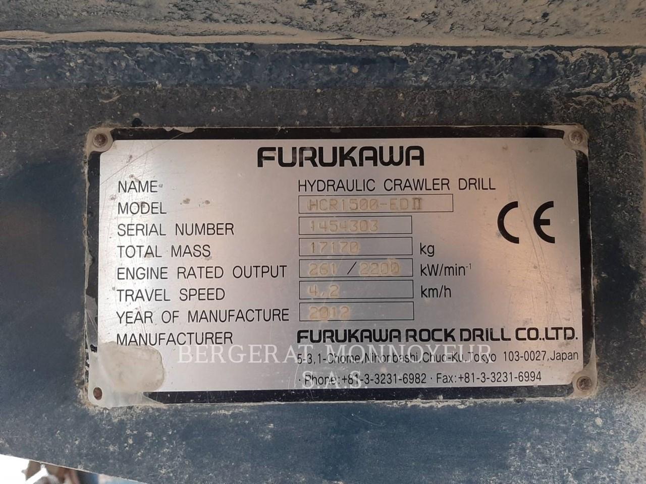 2012 Furukawa HCR1500 Image 4