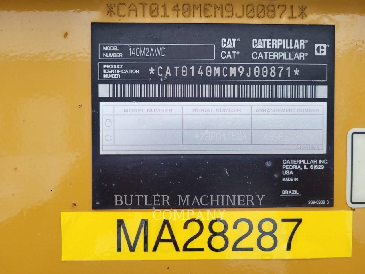 2014 Caterpillar 140M2 AWD Image 5