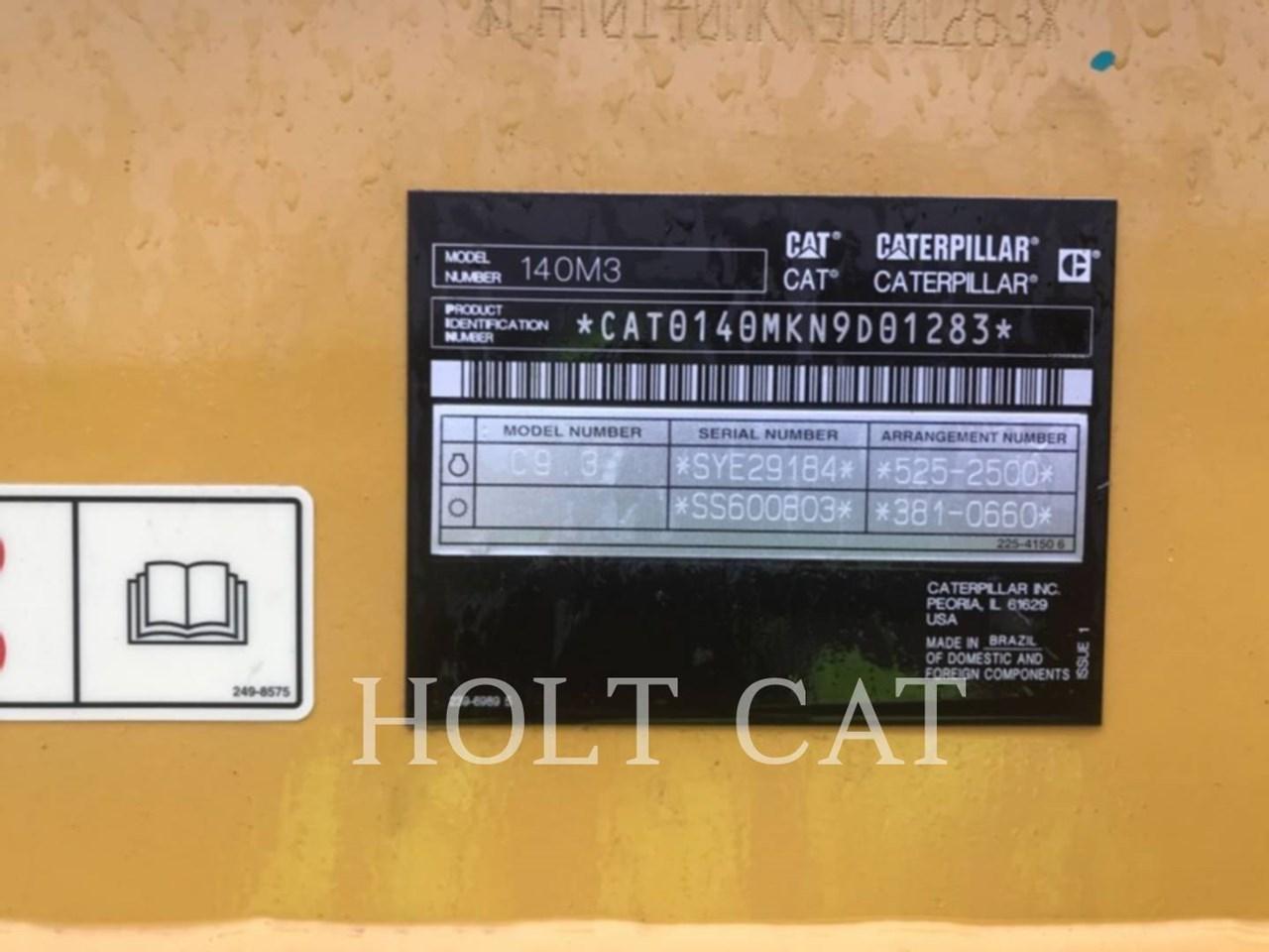 2019 Caterpillar 140M3 Image 6