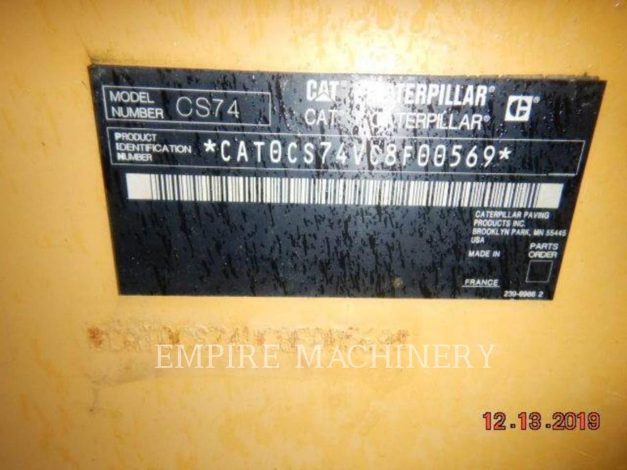 2012 Caterpillar CS74 Image 8