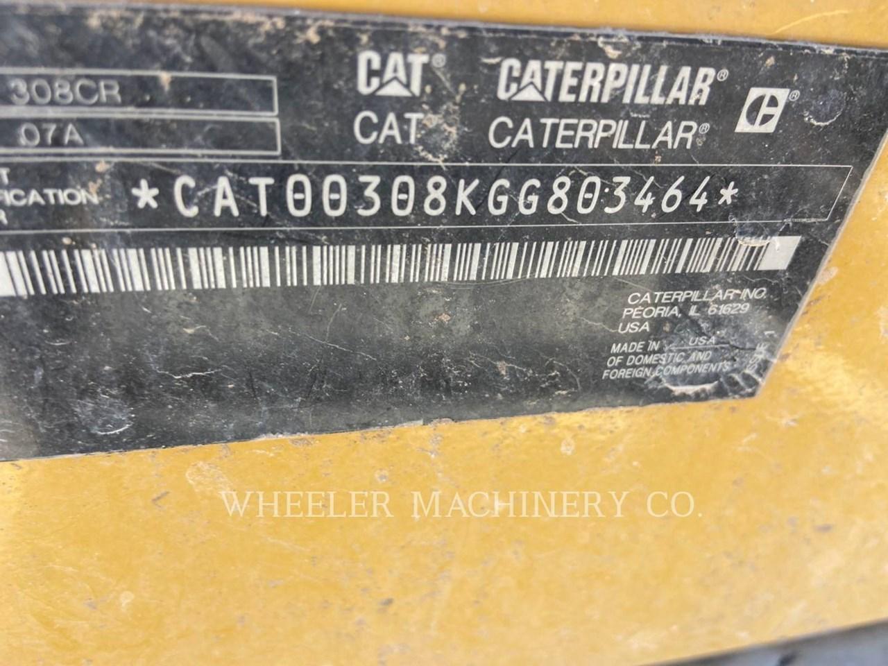2021 Caterpillar 308 TH Image 2