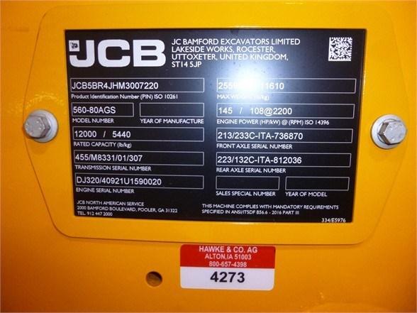 2021 JCB 560-80 AGRI SUPER Image 7