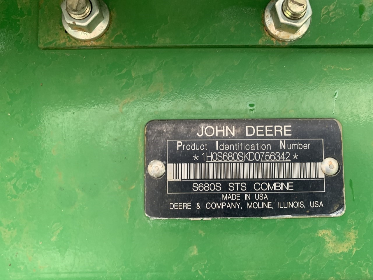 2013 John Deere S680 Image 2
