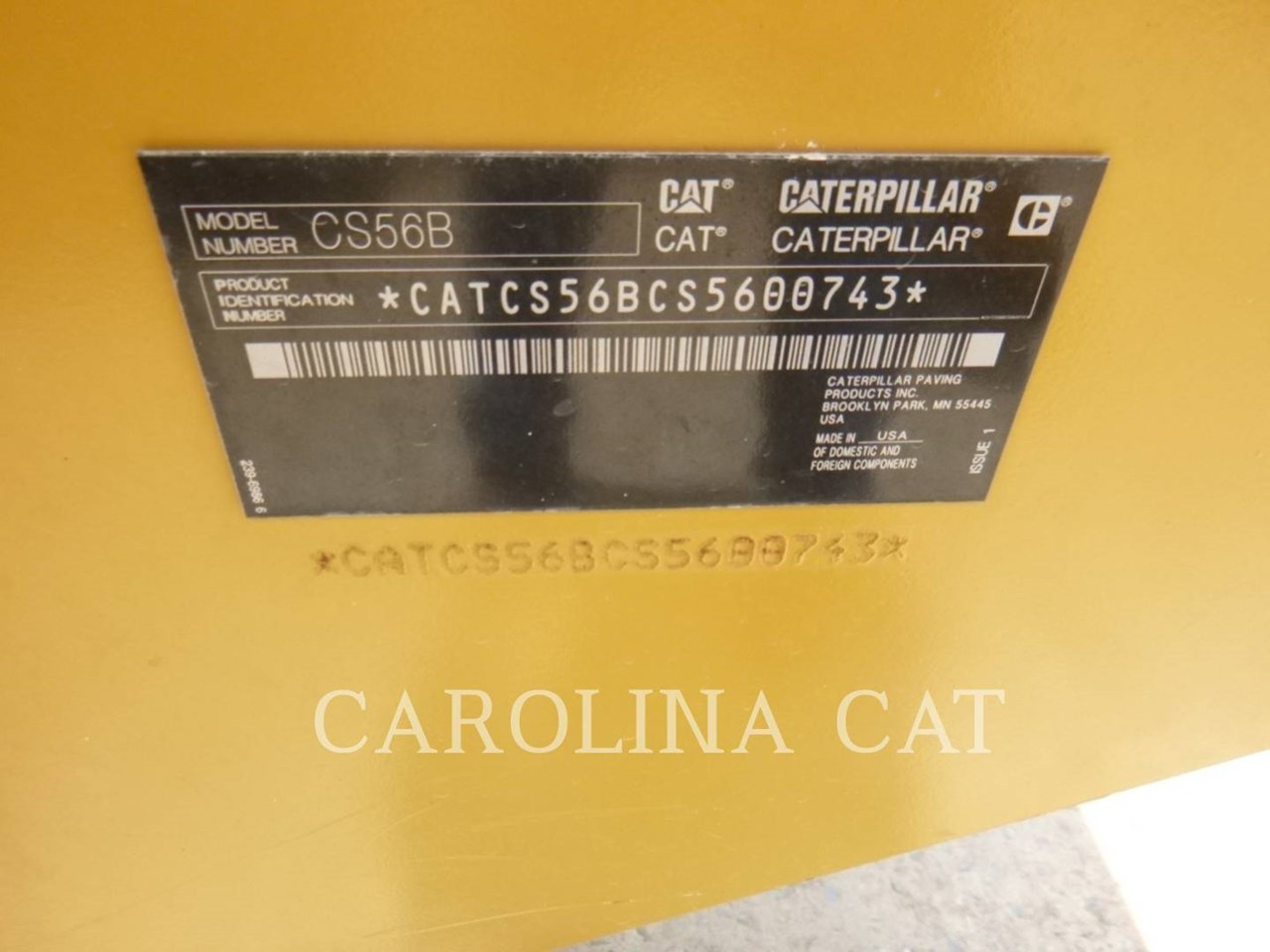 2018 Caterpillar CS56B Image 6