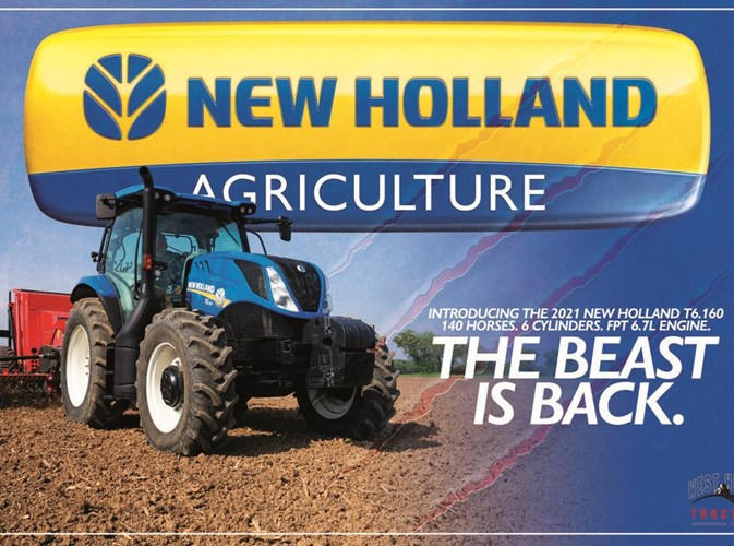 2021 New Holland T6.160 Tractor For Sale